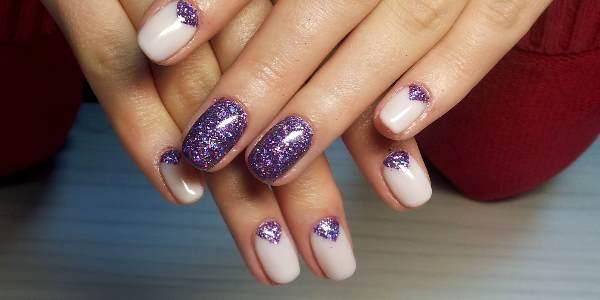 Блестки на ногтях