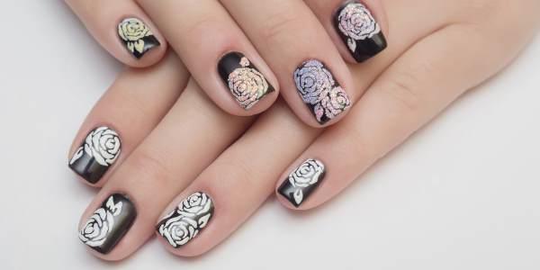 Вариант рисунков на ногтях