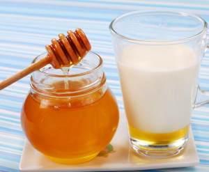 С медом и кефиром
