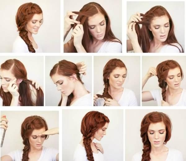 Коса набок