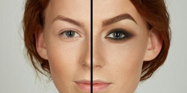 Разница в макияже