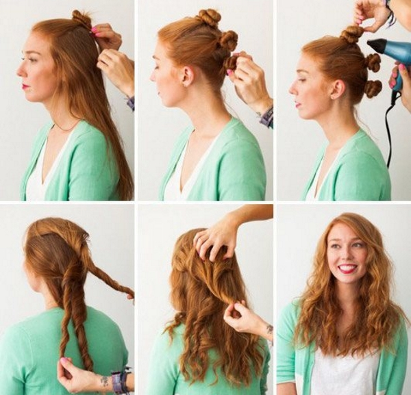 Жгуты для волнистых волос