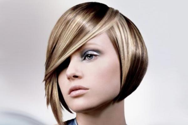 Русые короткие волосы
