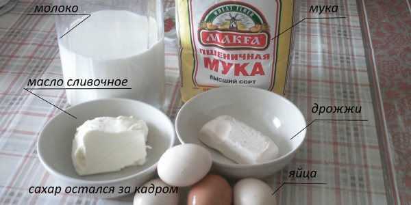 Продукты на пирог