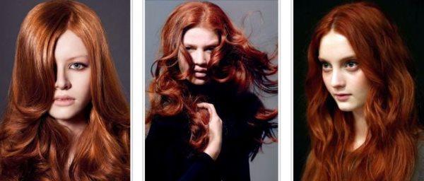Темно-рыжие волосы