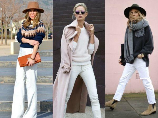 Варианты с белыми джинсами