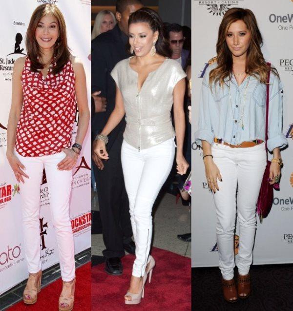 Примеры белых джинс