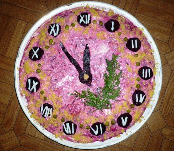 В форме часов
