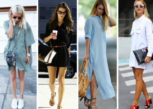 Варианты платья-рубашки