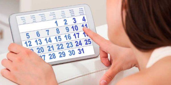 Расчет по календарю