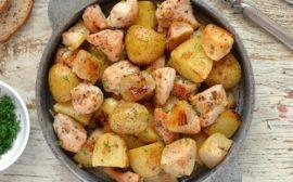 Картошка с куриной грудкой