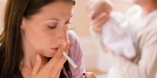 Курение грудь