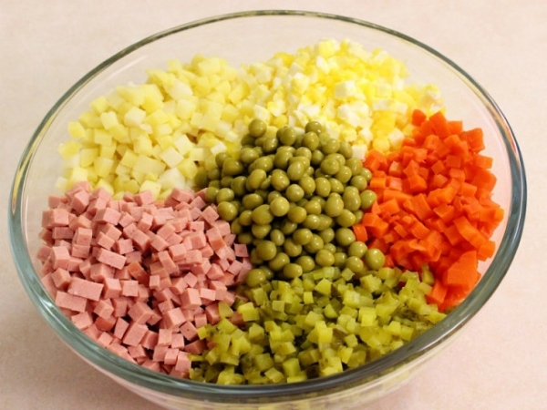 Овощи кубиками
