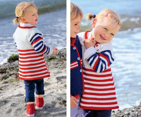 Детское морское платье