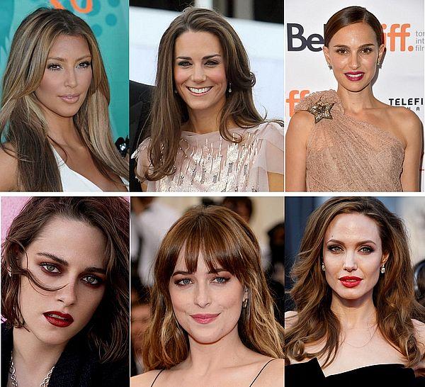 разнообразие вариантов волос шатенок
