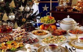 праздничный стол на Новый год 2019