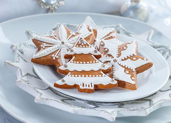новогоднее печенье елочки 2019