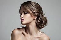 вечерняя укладка на средние волосы