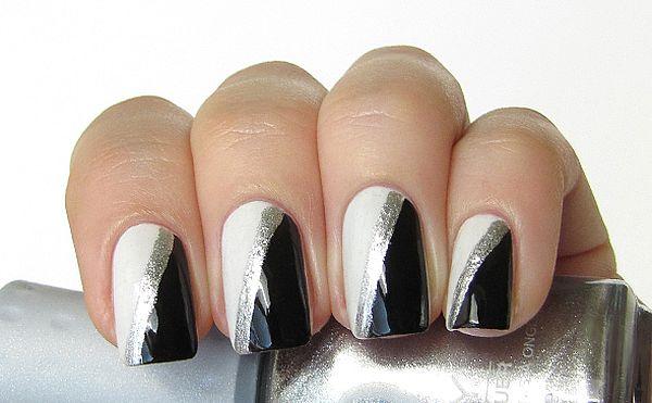 черно-белый с серебристым дизайн