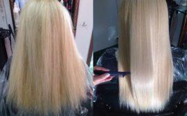 Результат после ботокса для волос