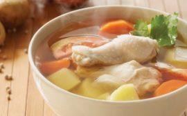 Легкий суп на нежирном бульоне