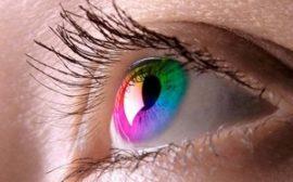 Цветная линза на глазу