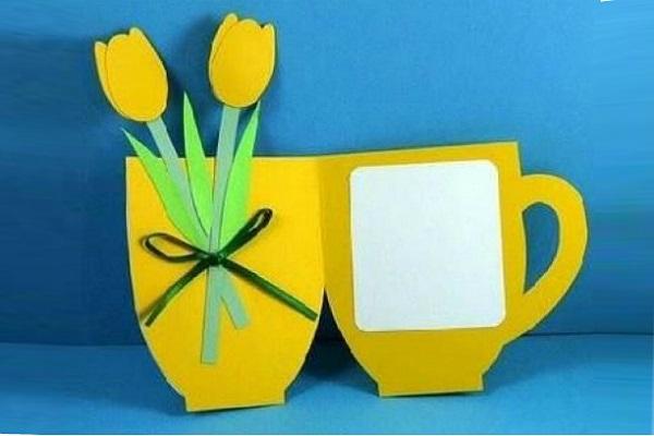 Открытка-ваза