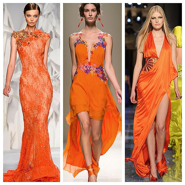 оранжевые платья