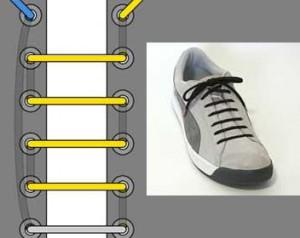 Простая прямая шнуровка