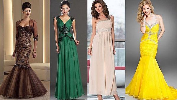 разнообразие оттенков платьев