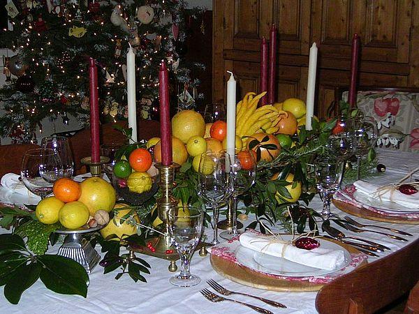 оформление стола фруктами