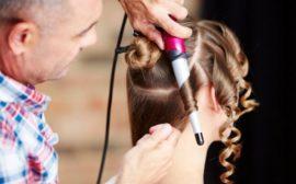 Завивка волос щипцами