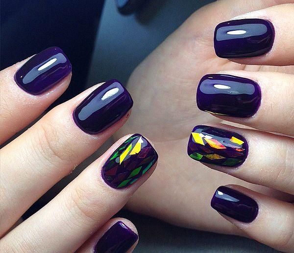 темно-синий цвет ногтей