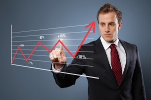 Финансовый эксперт и график курса