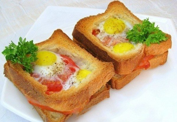 Запеченные бутерброды с яйцом