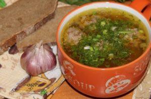 Суп с гречкой и фрикадельками