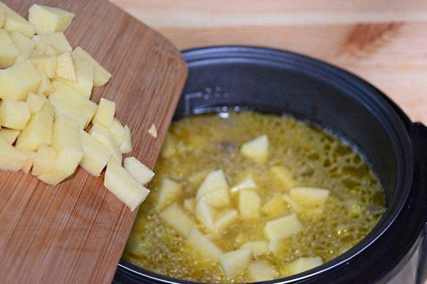 Суп из грибов в мультиварке