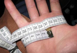 Определение размера руки