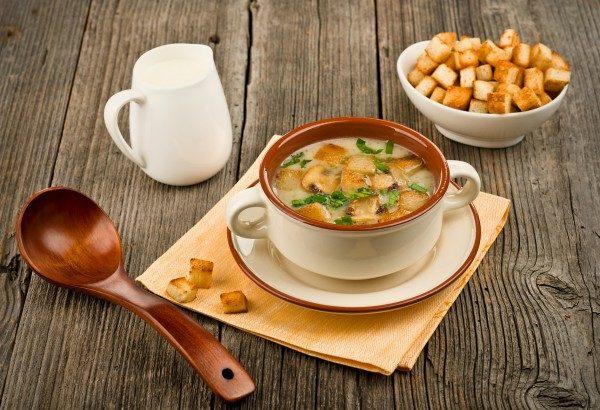 Сырно-сливочный суп с грибами