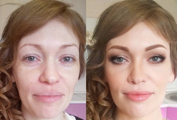 Фото до и после окрашивания хной