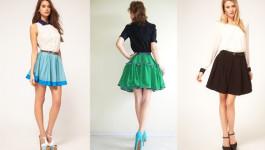 С чем можно носить и удачно сочетать юбку «солнце»