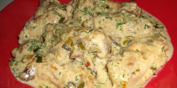 Филе в сливочном соусе