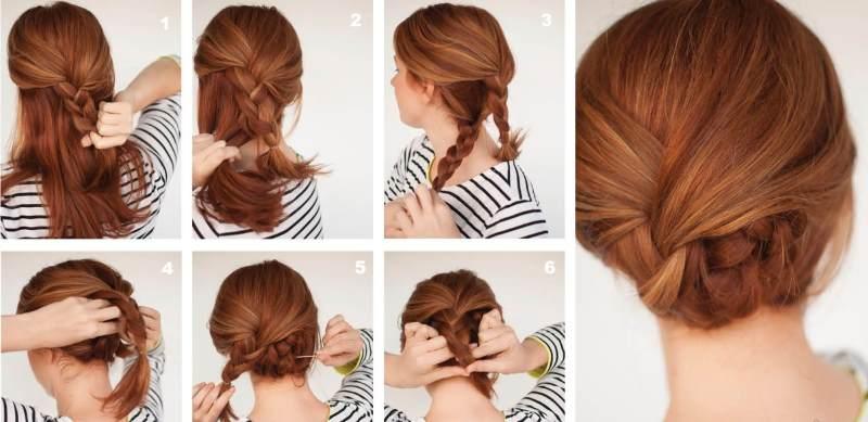 Вариант плетения кос