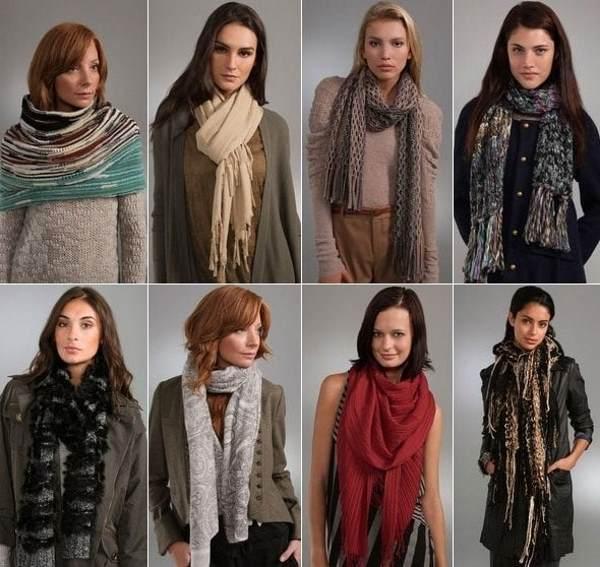 Теплые шарфы