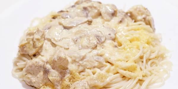 Спагетти с курицей