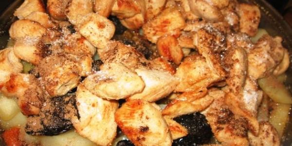 Филе с черносливом