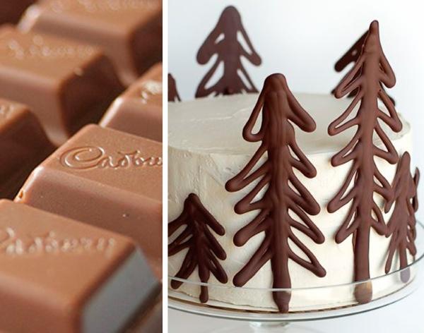 Елочки из шоколада