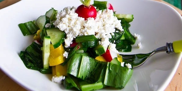 Творог и салат