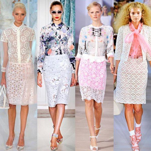Белые кружевные юбки