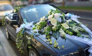Цветы на машине